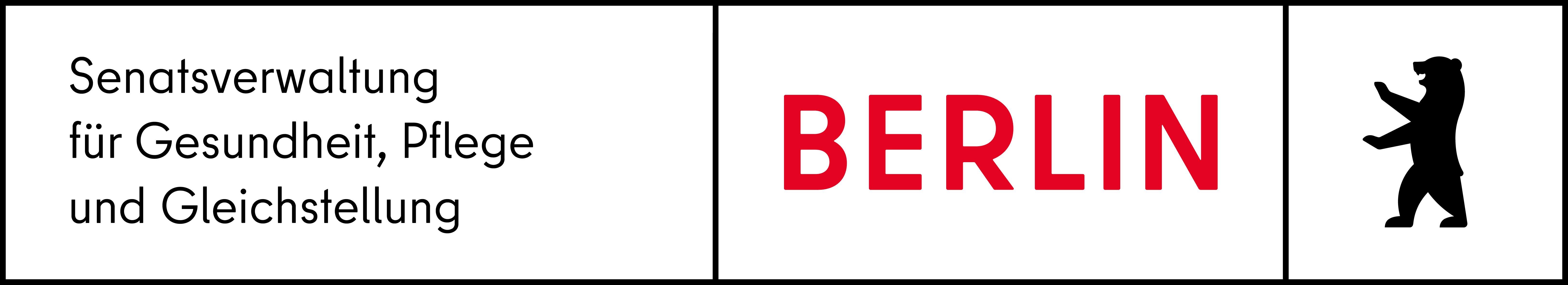 Die Grafik zeigt das Logo der Logo der Senatsverwaltung für Gesundheit, Pflege und Gleichstellung